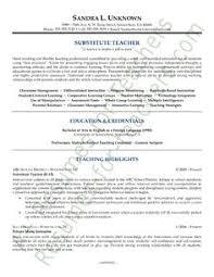 long term substitute teacher resume   sales   teacher   lewesmrsample resume  substitute teacher resume sle for