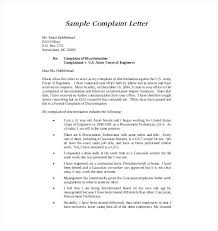 Template For Letter Of Complaint Engineer Formal Complaint Agreement