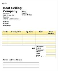 Roofing Invoice How To Plan Roofing Invoice Templates