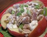 apple peanut salad with tuna