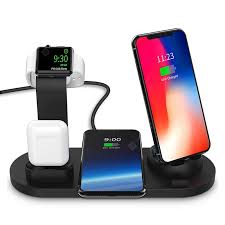 <b>LEEHUR</b> 10w Qi Wireless Charger Stand <b>6 In 1</b> for Apple Watch ...