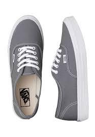 vans shoes for girls gray. vans - authentic slim monument/true white girl shoes impericon.com uk for girls gray i