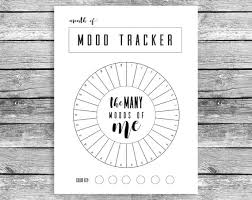 Monthly Mood Tracker Circle Bullet Journal A5 Journal