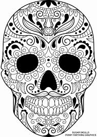 Coloring Pages Of Skulls For Day Of The Dead Awesome Printable Skull