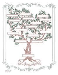 Family Chart Decorative Family Tree