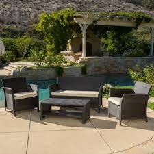 Outdoor furniture set Iron Quickview Birch Lane Outdoor Sofa Sets Birch Lane