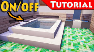 minecraft working jacuzzi bath tub tutorial how to make improved for modern house you
