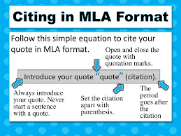 Citing Quotes In Essays Mla Custom Paper Example