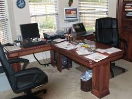 nice office desk. t shaped desk for the office would be nice dream home pinterest desks custom and dark stains c