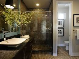 Bathroom: Extraordinary Modern Master Bathroom Ideas With Glass Shower  Enclosure And Stunning Lighting Plus Wall
