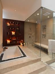 And this one is awesome with the double shower heads and how the shower is  a very large part of the room! I like the tile color on this one too!