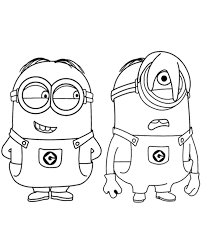 Tom, mark and phil in this beautiful picture are tom, mark and phil. Two Minions Printable Coloring Page Topcoloringpages Net