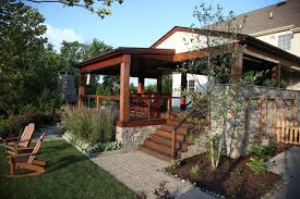 paver patio paver walkway landscaping bucks county a covered deck
