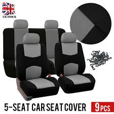 ford blk gry car seat covers protector