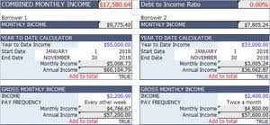 Monthly Paycheck Calculator Year To Date Income And Salary Calculator