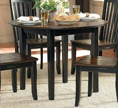 black round dining set three falls round dining table with drop leaf two tone dark brown