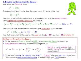 solving by completing the square