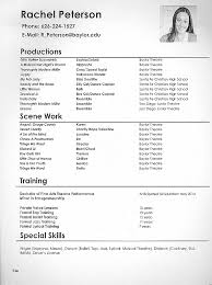 How To Make A Theatre Resume Best Theatre Resume Format Bino48terrainsco