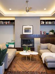Large contemporary open concept dark wood floor living room idea in Houston  with gray walls,