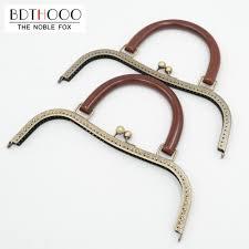 Clasp Lock BDTHOOO <b>27cm Metal</b> Purse Frame Solid Wooden ...