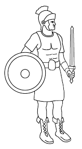 A Roman Soldier From Late Ancient Rome Coloring Page Date With