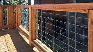 Image Small Deck Wild Hog Metal Grid Railing Boston Cedar Wild Hog Railing Metal Grid Panels Boston Cedar