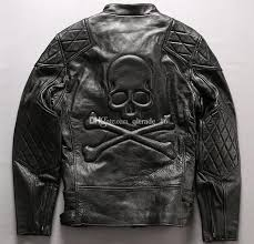 2019 black men genuine leather jackets racing motorcycle jacket skull head back leather jacket with ykk zipper from qltrade 16 292 39 dhgate com