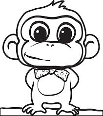 Small Picture Free Printable Cartoon Monkey Coloring Page for Kids 2