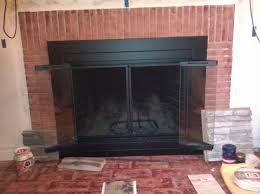 Pleasant Hearth Ascot Small Glass Fireplace Doors AT-1000 at The ...