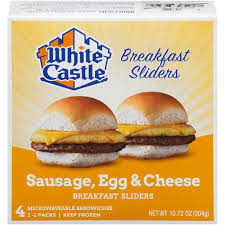 white castle sausage egg cheese white castle sausage egg cheese breakfast sliders
