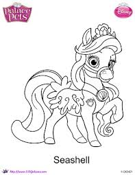 Small Picture Princess Palace Pets Seashell coloring Page by SKGaleana on DeviantArt