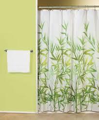 bright green shower curtain idea for colorful bathroom interiors