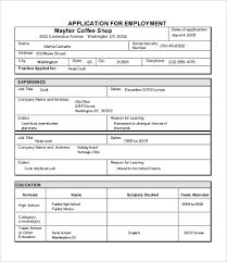 Job Applications Sample Sample Job Application 7 Free Word Pdf Documents Download