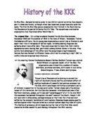 who were the kkk and what did they do gcse history marked by  related gcse usa 1941 80 essays