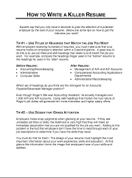 This example How To Write A Killer Resume we will give you a refence start  on building resume.you can optimized this example resume on creating resume  for ...