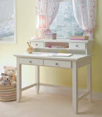 white stained oak wood teenage desk with drawers and square tapered legs and u shaped stretcher