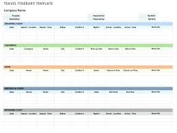 Vacation Itinerary Template Excel 6 Holiday Itinerary Templates In