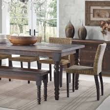 Kitchen Table With Bench Set Furniture Classy Distrssed Farmhouse Kitchen Table Oil Rubbed