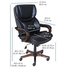 Serta at Home 46859 Executive Office Chair in Black with Bonded ...