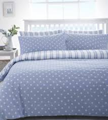 blue and white polka dot duvet cover