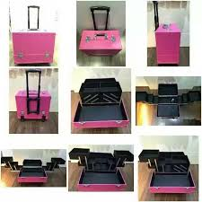 makeup trolley hotpink cosmetic bag pvc mkb41119