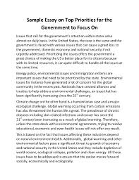sample essay on top priorities for the government to focus on sample essay on top priorities for the government to focus on issues that call for the