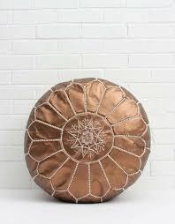 moroccan pouf bronze