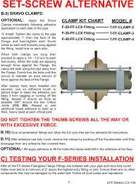 Bravo Ff Series Installation Instructions Bravo Frp Flange