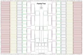 Ten Generation Pedigree Chart 12 Ageless Is There A Blank Chart For Family Tree
