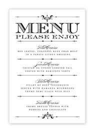 Collection Free Menu Templates To Print Pictures