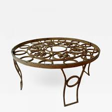 listings furniture tables coffee tables mid century mexican modernist talleres chac n round coffee table forged iron