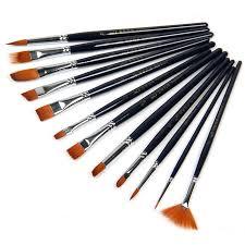 12pcs nylon hair paint brush set artist watercolor acrylic oil painting supplies free whole a3