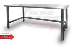 stainless steel table top. Stainless Steel Top Bakery Work Table 48\