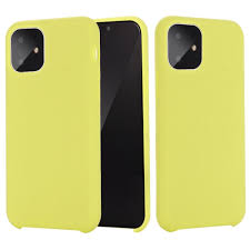 Solid color shockproof liquid silicone soft case for iPhone 11 Pro Yellow -  buy from 9$ on Joom e-commerce platform